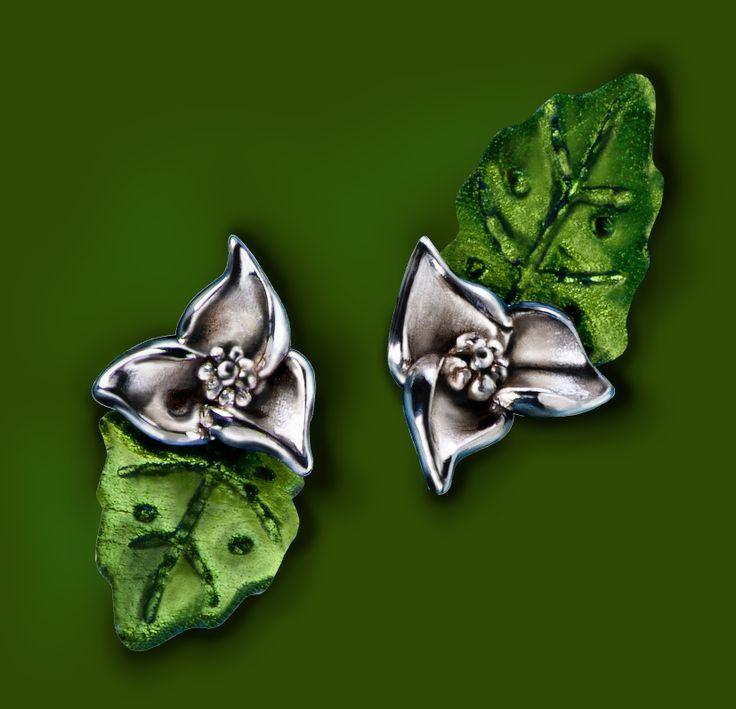 Kids earring: Silver 925ml, Leather.