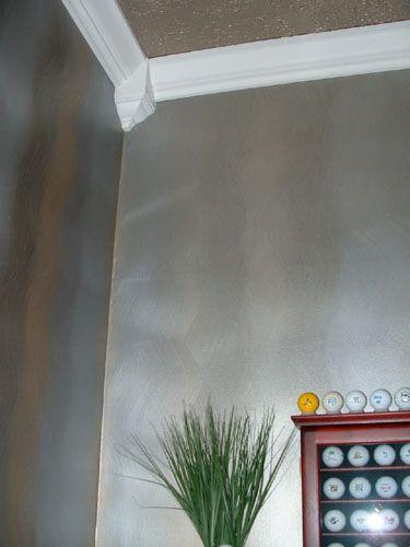 25 best ideas about metallic paint walls on pinterest - Metallic blue interior wall paint ...