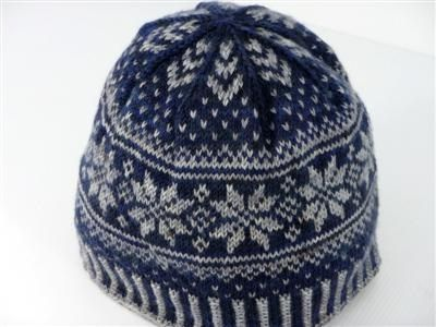 Useing Blue and Silver Yarn