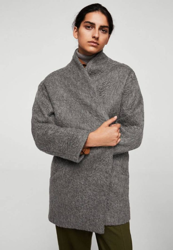 Mango HUM - Classic coat - grau-meliert for with free delivery at Zalando