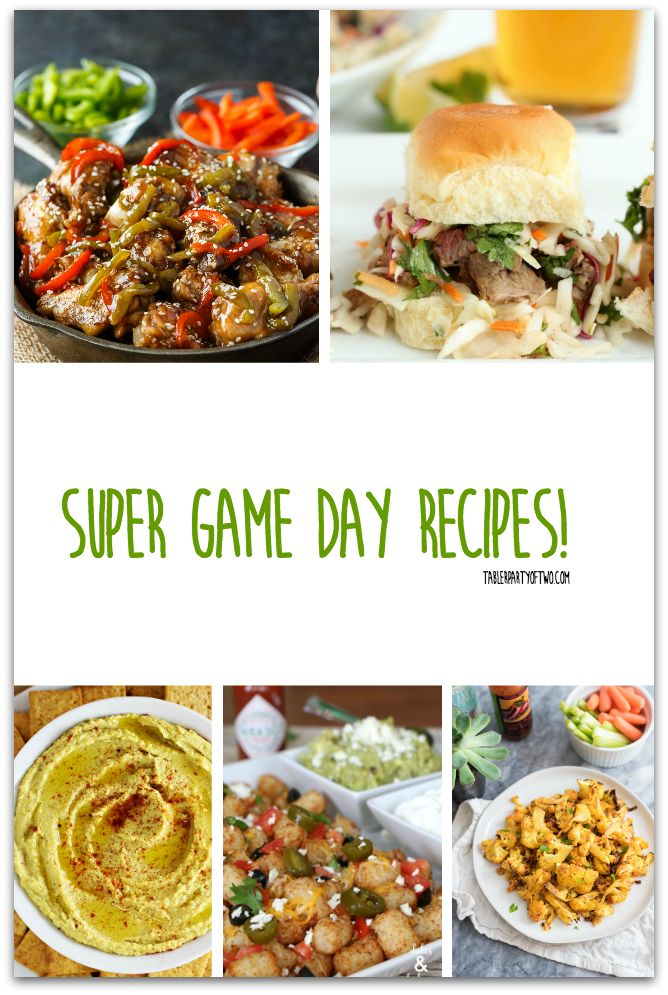 It's game day time! Check out these super game day recipes! TablerPartyofTwo.com