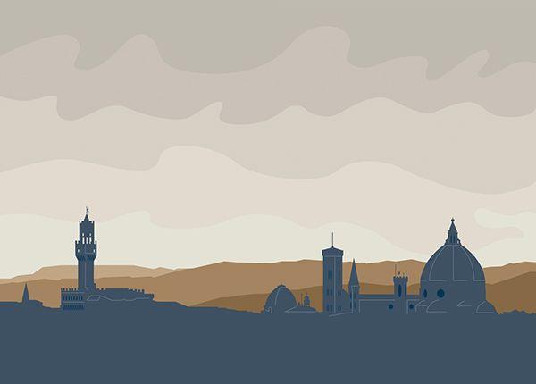 Skyline di Firenze - colori neutri on Behance