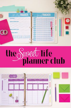 Want to get organized and have fun in the process? Join the Sweet Life Planner Club today!
