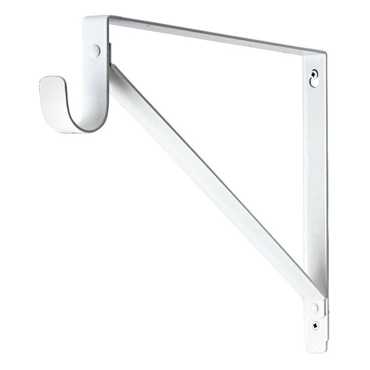lavi industries lb shelf closet rod bracket knobs and. Black Bedroom Furniture Sets. Home Design Ideas
