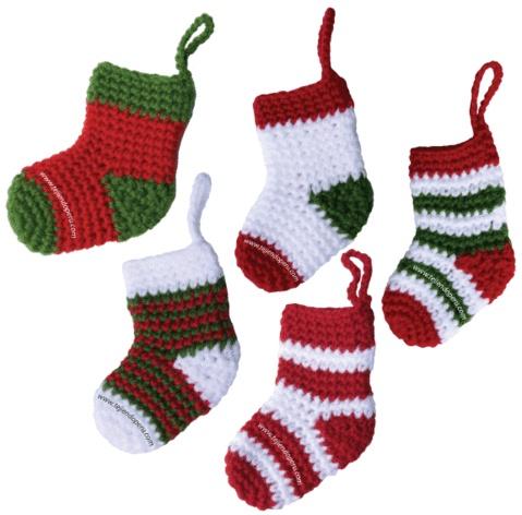 medias o botitas de navidad crochet