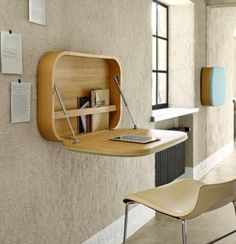 Mini desk - neat and tidy, out of the way  #KRABY