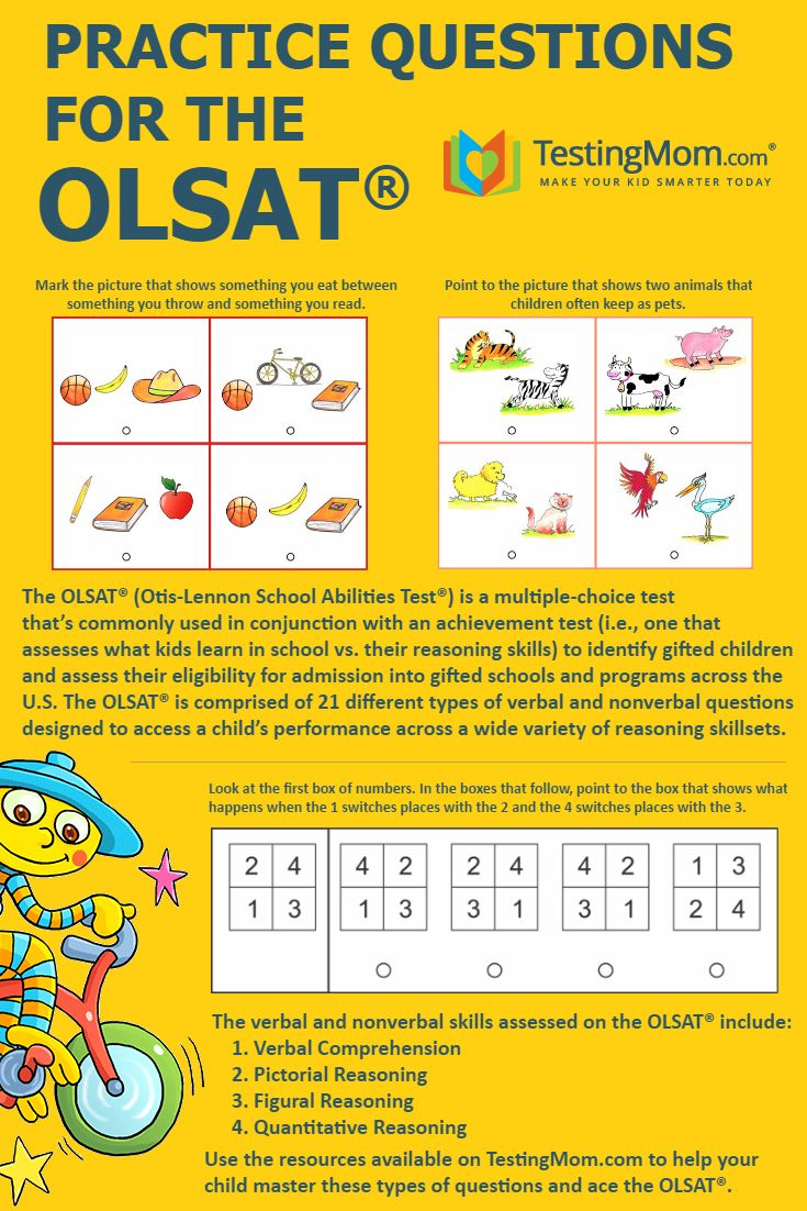 Can your child solve these practice problems for the #OLSAT?