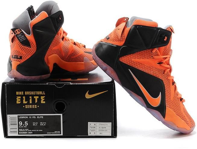 Lebron 12 Orange Black1
