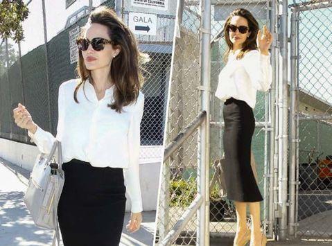 La rumeur qui dit que Brad Pitt aurait craqué pour une actrice de 32 ans sa cadette ne l'atteint pas. Angelina Jolie continue d'être une battante. Ce 26 octobre, l'ambassadrice de bonne volonté de l'ONU a été montrer son dernier film à des jeunes filles dans une école à Los Angeles.