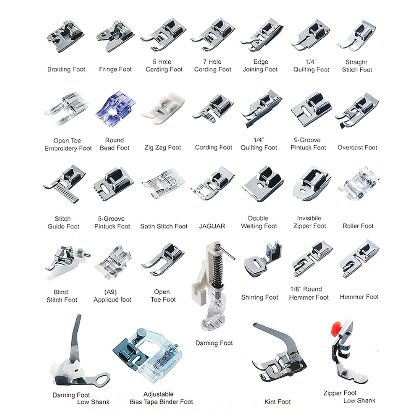 Multifunctional Kit 32 Presser Foot Feet Sewing Machine Parts Accessories(English Version)