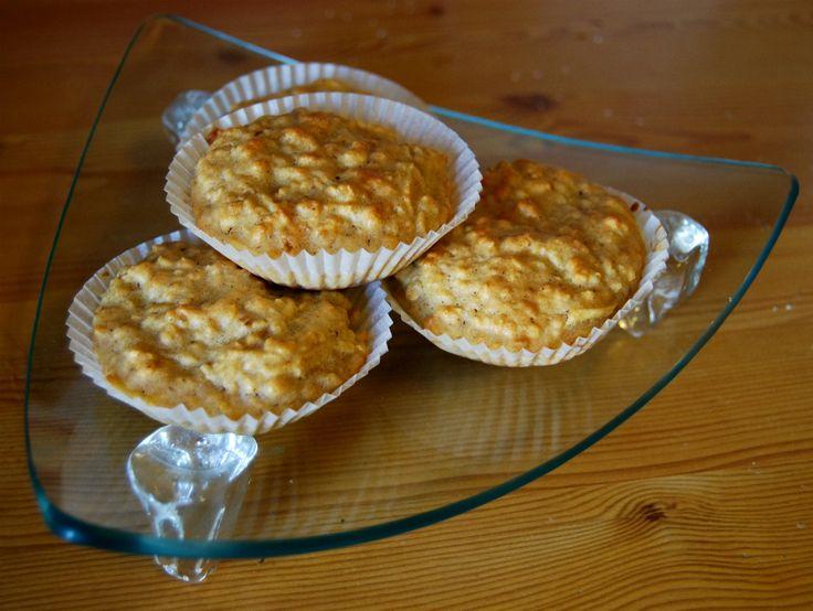 Grove muffins med eple og kanel