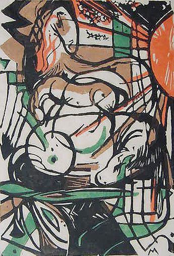 Franz Marc, woodcut - This is the only print I have seen of his. S