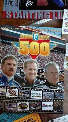 NASCAR Food City 500 Program Book from Bristol Motor Speedway Ticket Stubs Admis