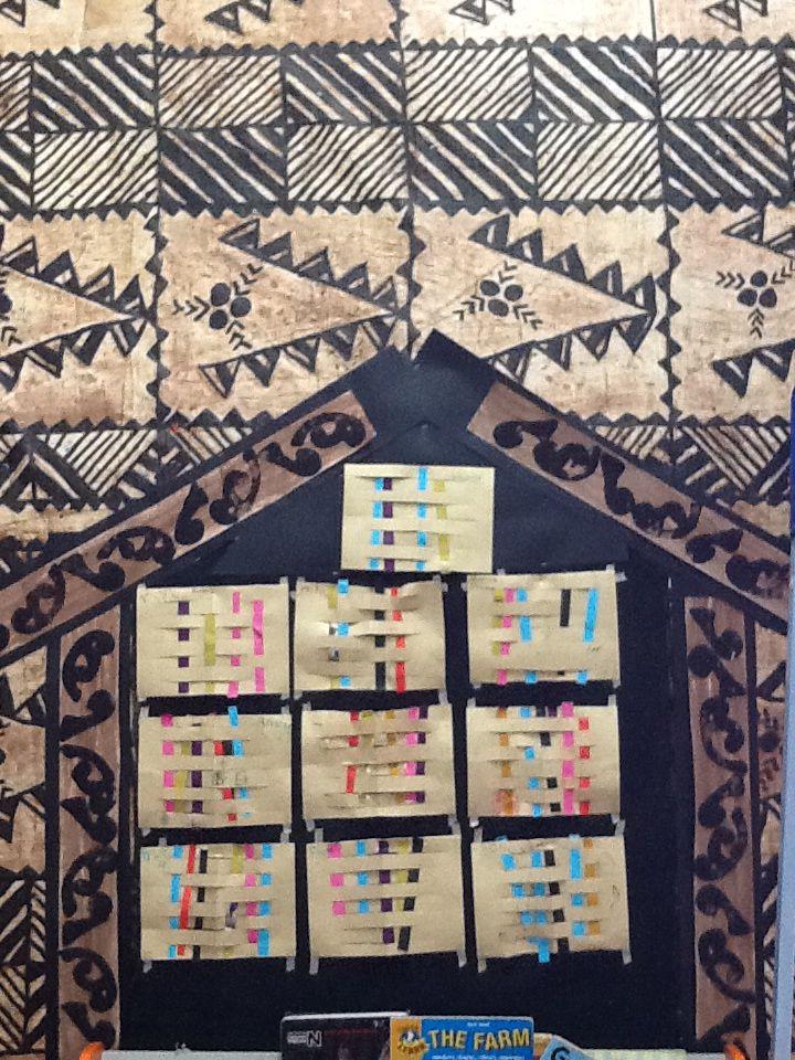 Maori's weaving crafts done by preschoolers!