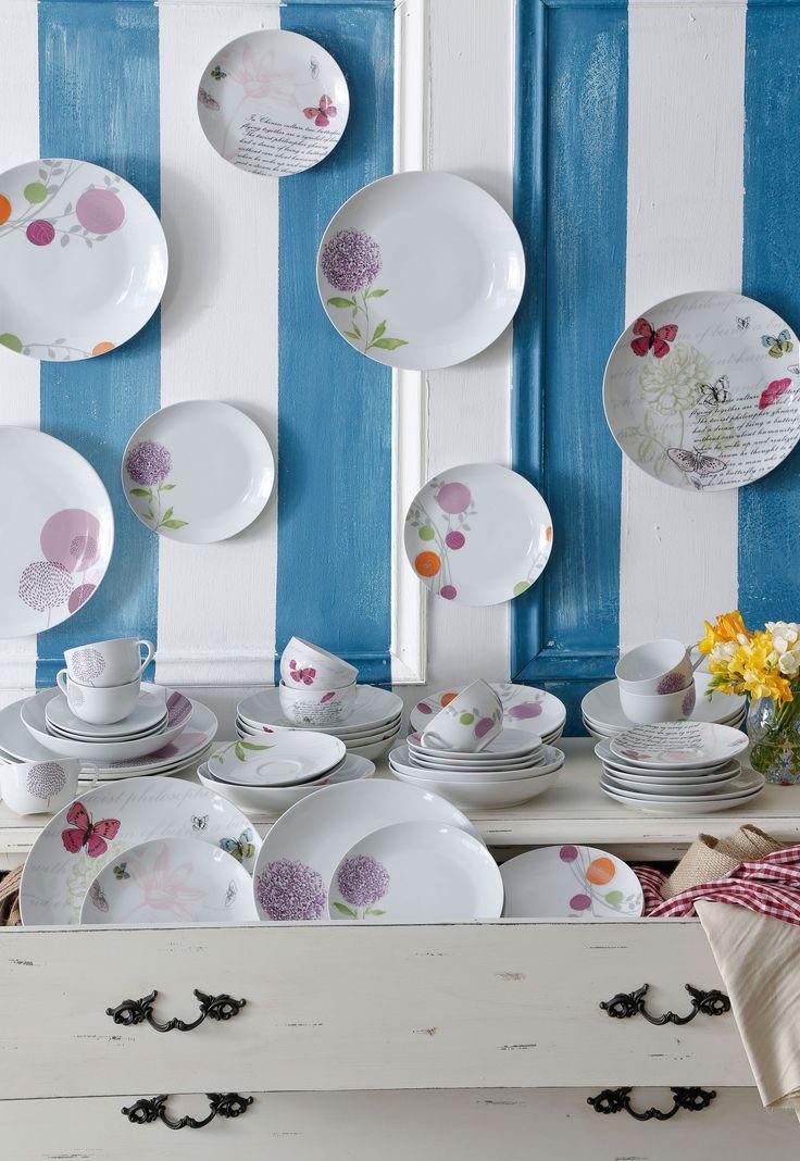 Diseños románticos llegan esta temporada a tu hogar con los juego de loza de nuestro especial #BelleEpoque