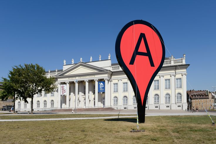 Map by Aram Bartholl at the show Hello World, Kasseler Kunstverein2013