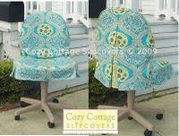 Cozy Cottage Office Chair Slip Cover Design.