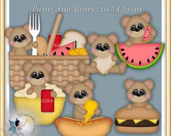 Strand-Cliparts Sommer Teddybär Strand Spaß von MagicmakerScraps
