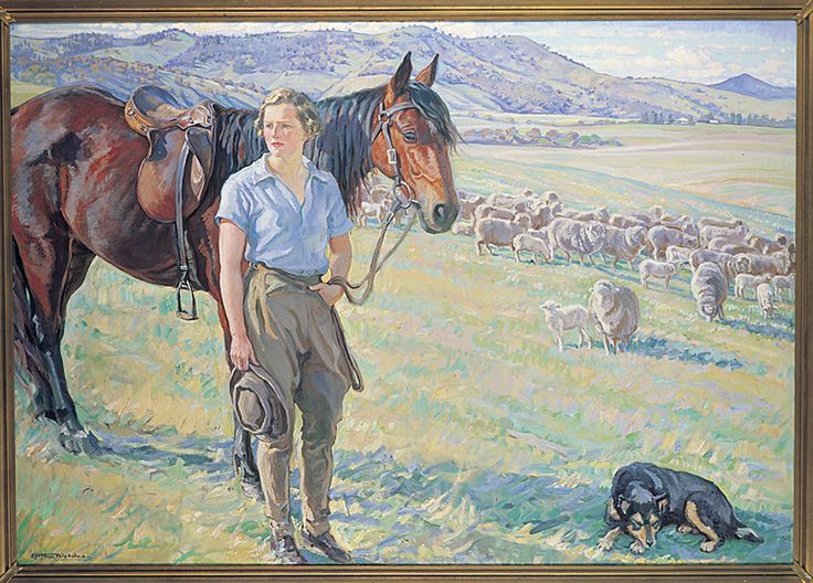 """The Fair Musterer"" 1935 Hilda Rix Nicholas"