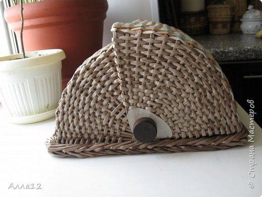 Решила сплести вот такую хлебницу. Рассказывать не умею, просто смотрите :)) фото 5