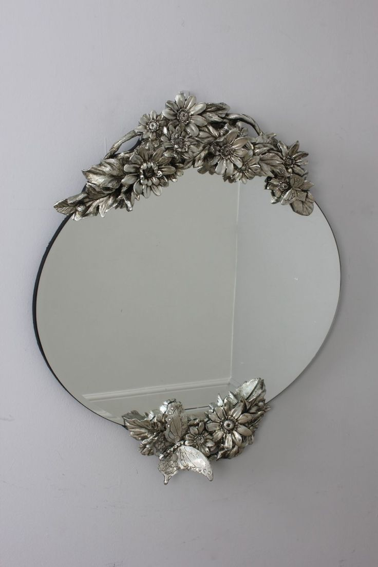 Vintage Frameless Oval Mirror From Dansk Home Accents