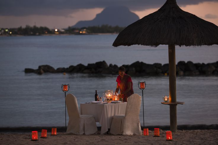 Spend a #romantic dinner on the #beach with someone special at The Sands Resort & Spa in #Mauritius. #GourmetAfrica #Africa #cuisine #island