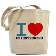 """""""I <3 Orienteering"""" Tote Bag"""