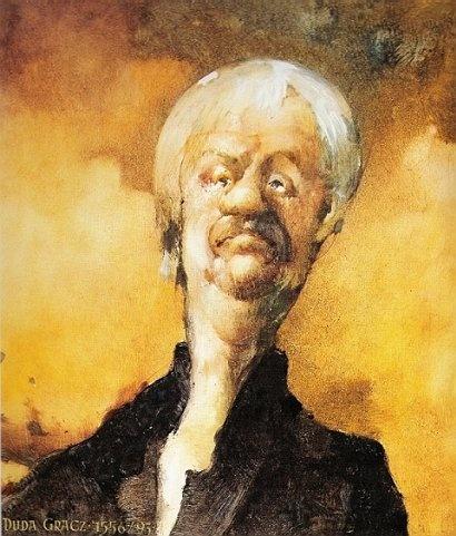 Jerzy Duda-Gracz - Autoportret żółty (1993)