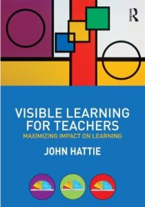 "John Hattie's ""Visible Learning handbook for teachers"" is an important book. Tough going though! I haven't succeeded yet in reading it from cover to cover."