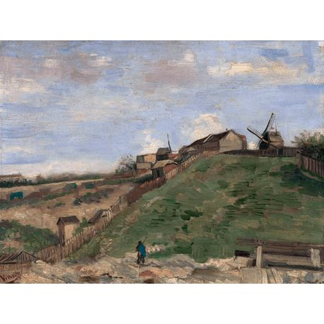 Reprodukcje obrazów Vincent van Gogh The Hill of Montmartre with Stone Quarry - Fedkolor