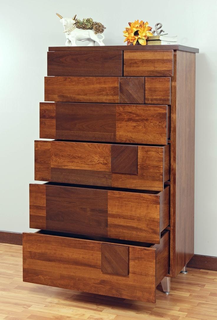 Best Arial Fields Modern Walnut Cherry Bedroom Set Bed 400 x 300