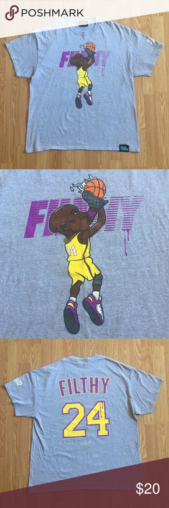Filthy Kobe Bryant T'shirt Up for sale is a Filthy Kobe Bryant T'shirt in A+ condition with no flaws ! filthy Shirts Tees - Short Sleeve