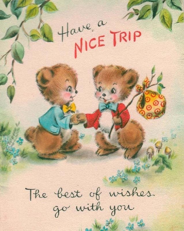 """Have a Nice Trip"" bears"
