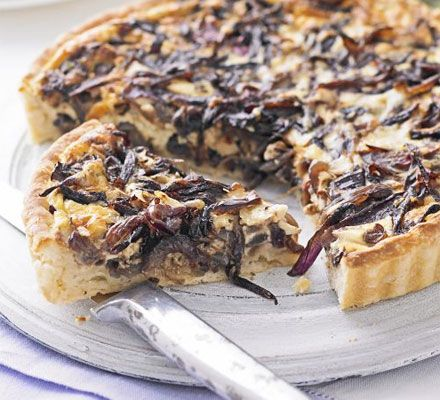 The ultimate makeover: Onion tart recipe - Recipes - BBC Good Food 309kcal