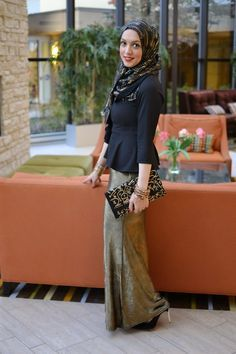 Wedding Guest Outfits skirt and blouse hijabi