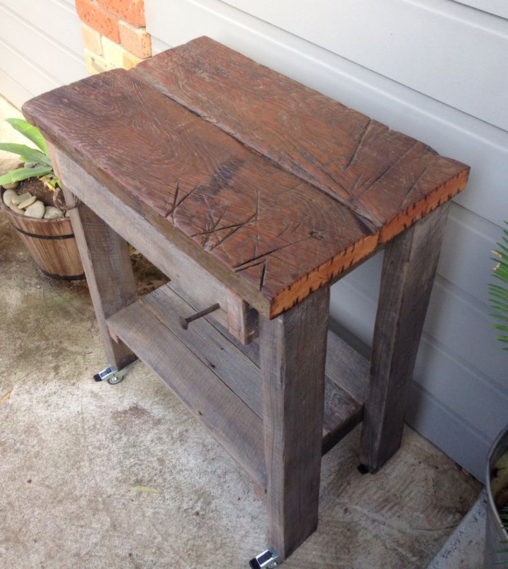Rustic Kitchen Island Bench Hand Made From Hardwood U0026 Oregon.