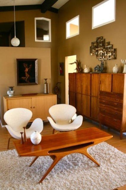 Mid Century Modern Coffee Table   #homedecorideas #coffeetables #interiordesign