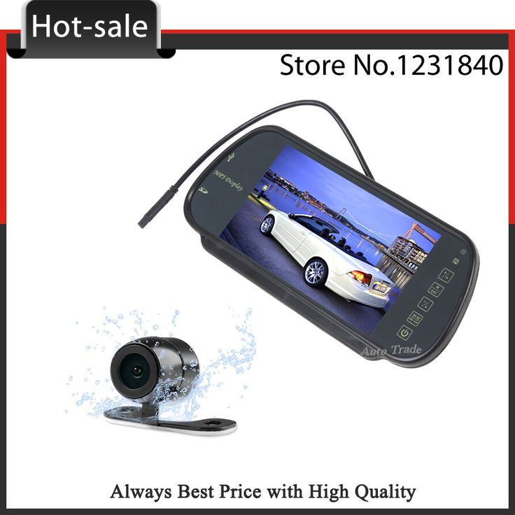 """7""""LCD Car Rearview Mirror Monitor Auto Vehicle Rear Camera Monitor with CCD Reversing Camera for Parking System Espejos Auto"""
