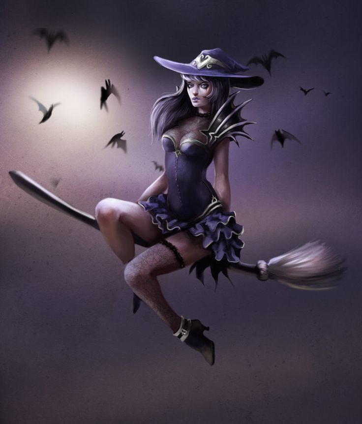 создании картинки с феями на метле доме мини