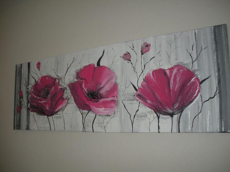 1000 id es sur le th me tableau contemporain sur pinterest tableaux contemporains tableau for Peinture rose fushia
