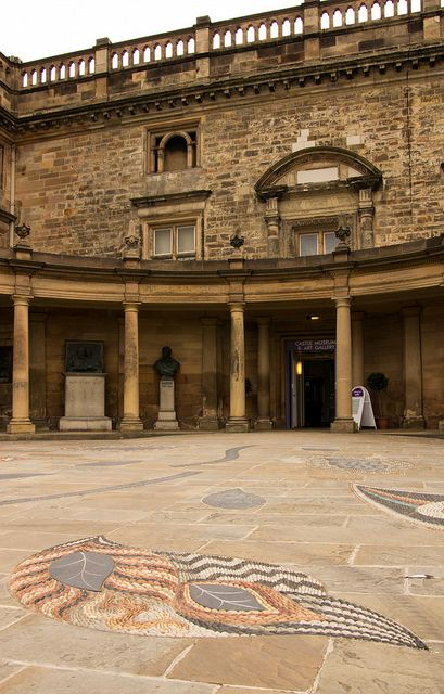 The entrance to the 17th century Ducal Palace at the heart of Nottingham Castle, England