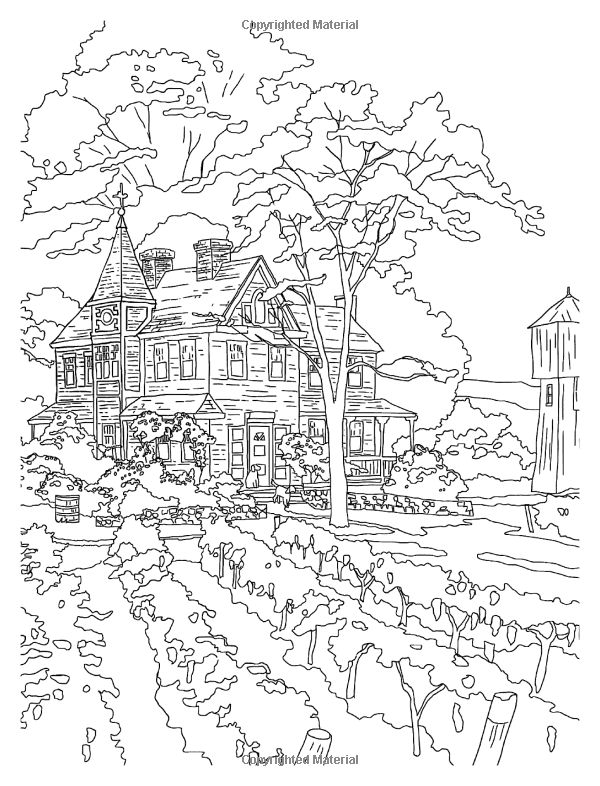 Posh Adult Coloring Book Thomas Kinkade