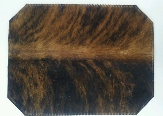 Hair On Cowhide Placemats Western Kitchen And Dining Decor