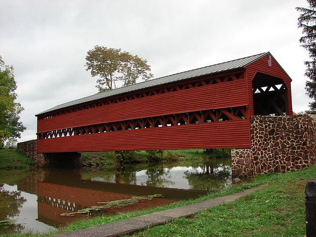Sach's Covered Bridge - Gettysburg - Adams County.