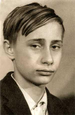Young Vladimir Putin (age ?):