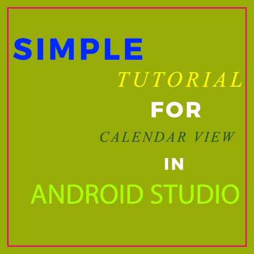 In Android, Calendar View widget was added in API level 11(Android version 3.0) which means this view is only supported in the device that are running on Android 3.0 and higher version. It is used for displaying and selecting dates.