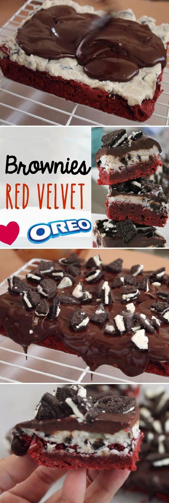 Brownies para San Valentín de Red Velvet y Oreo. Recetas Románticas...  #brownie #brownies #sanvalentin #valentinesday #valentine #love #azúcar #tips #cupcakes #cakes #dulces #receta #recipe #casero #torta #tartas #pastel #nestlecocina #bizcocho #bizcochuelo #tasty #cocina #chocolate #pan #panes  Si te gusta dinos HOLA y dale a Me Gusta MIREN …