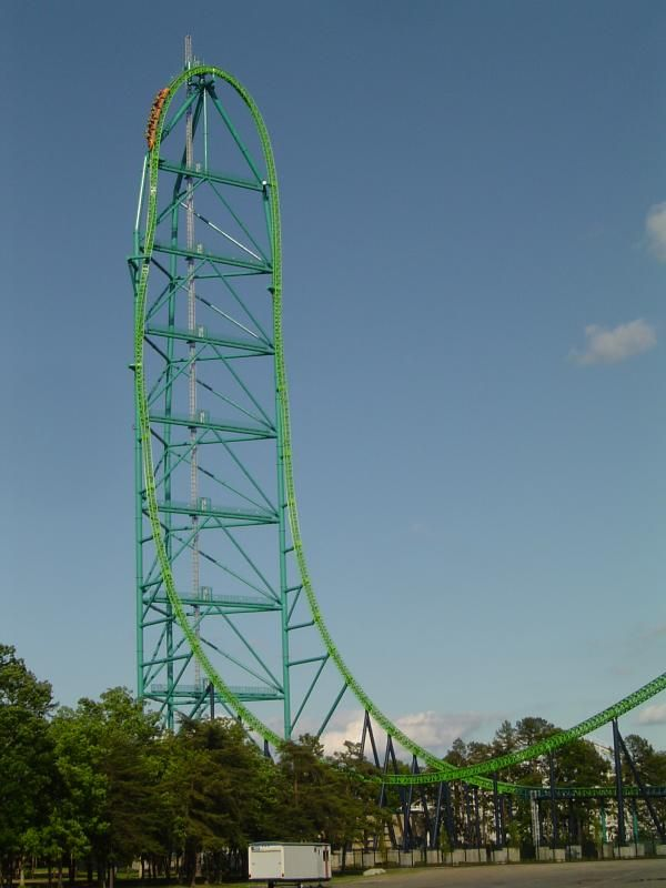 Roller Coaster: 	Kingda Ka  Amusement Park: 	Six Flags Great Adventure (Jackson, New Jersey, USA)  Taken: 	6/4/2005  Photo by: 	Jonathan Braun