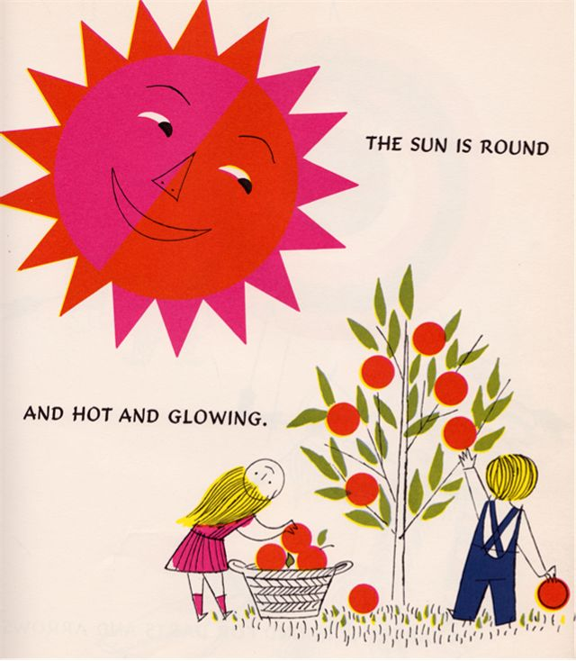 A Kiss is Round - verses by Blossom Budney, illustrated by Vladimir Bobri (1954).