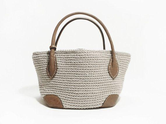 Genuine Leather Knitting Handmade Purse Shoulder by MillionKnit, $88.00
